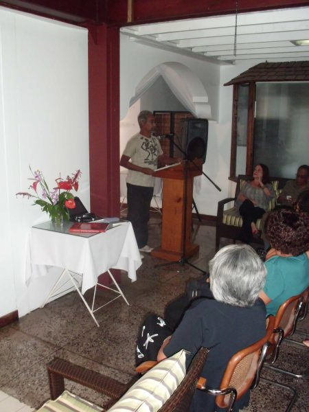Steelpan scholar Kim Johnson shares passages from his publication The Illustrated Story of Pan.