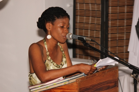 Nzingha Job reads from her journals of poetry.